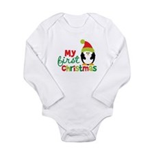 Penguin My 1st Christmas Long Sleeve Infant Bodysu