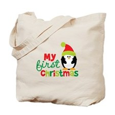 Penguin My 1st Christmas Tote Bag