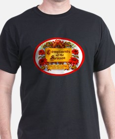 Seasons Greetings Cigar Label T-Shirt