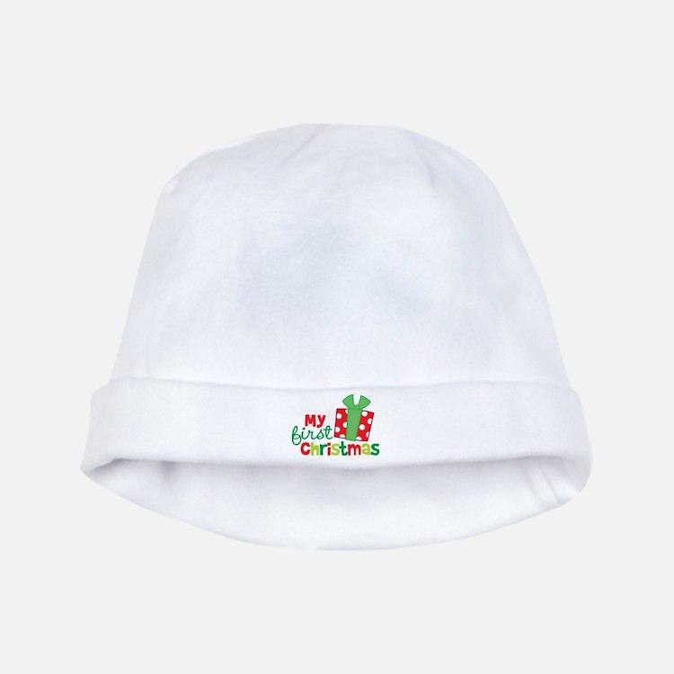 Present My 1st Christmas baby hat