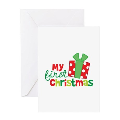 Present My 1st Christmas Greeting Card