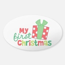 Present My 1st Christmas Decal