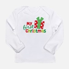 Present My 1st Christmas Long Sleeve Infant T-Shir