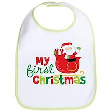 Santa My 1st Christmas Bib