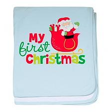 Santa My 1st Christmas baby blanket
