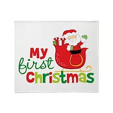 Santa My 1st Christmas Throw Blanket