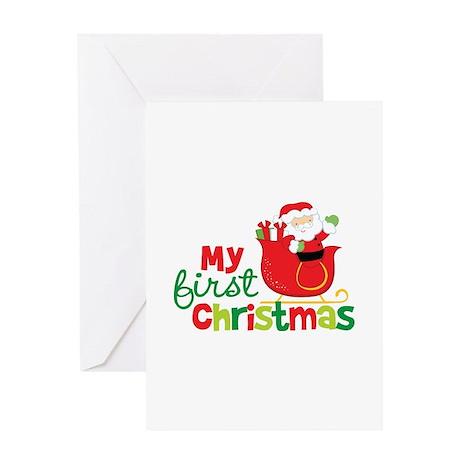 Santa My 1st Christmas Greeting Card