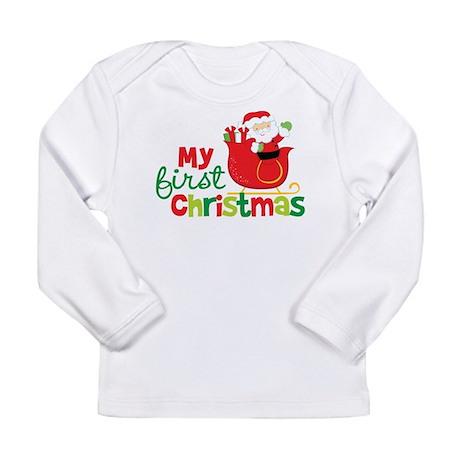 Santa My 1st Christmas Long Sleeve Infant T-Shirt
