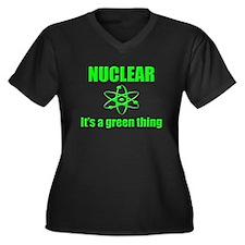 Nuclear Women's Plus Size V-Neck Dark T-Shirt