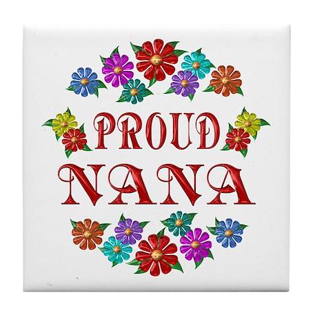 Proud Nana Tile Coaster
