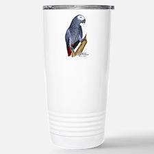 African Gray Parrot Travel Mug