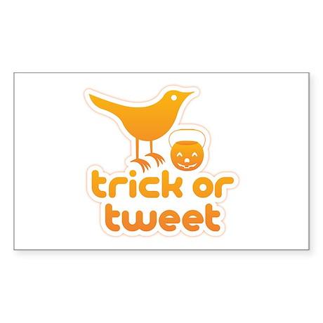 """Trick or Tweet"" Sticker (Rectangle 10 p"