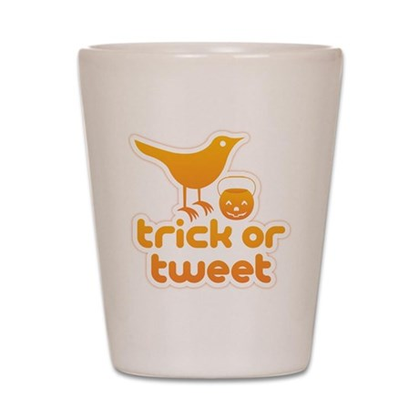 """Trick or Tweet"" Shot Glass"
