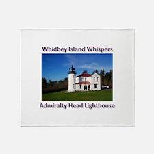 Admiralty Head Inlet Lighthou Throw Blanket