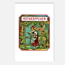 Red Riding Hood Cigar Label Postcards (Package of