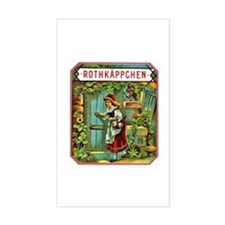 Red Riding Hood Cigar Label Decal