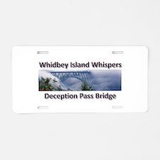 Deception Pass Bridge Aluminum License Plate