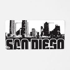 San Diego Skyline Aluminum License Plate
