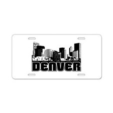 Denver Skyline Aluminum License Plate