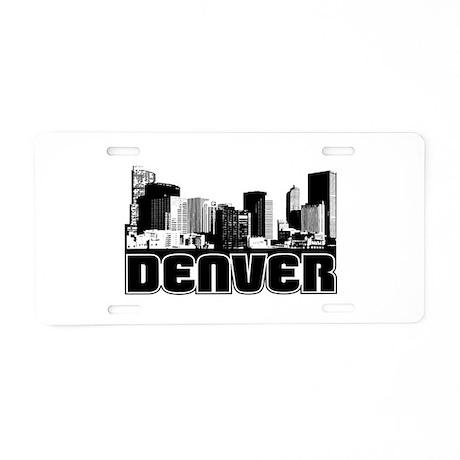 Denver Skyline Aluminum License Plate