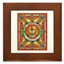 Cuban Art Cigar Label Framed Tile