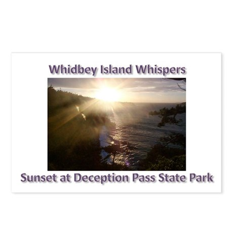 Sunset at Deception Pass Stat Postcards (Package o