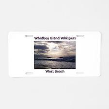 West Beach Aluminum License Plate