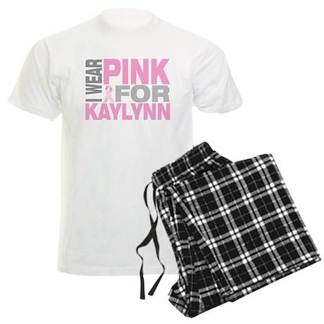 I wear pink for Kaylynn Men's Light Pajamas