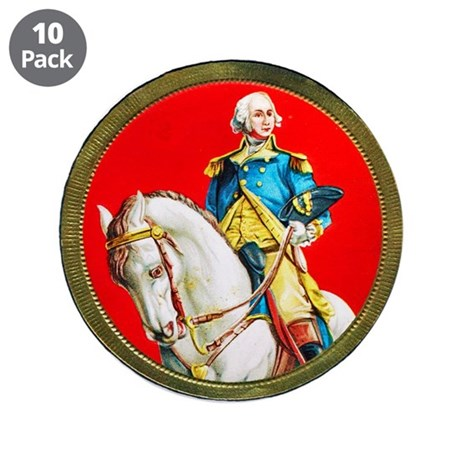 "George Washington Cigar Label 3.5"" Button (10 pack"