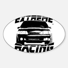 New Mustang Racing Sticker (Oval)