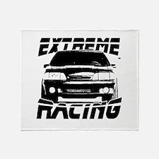 New Mustang Racing Throw Blanket