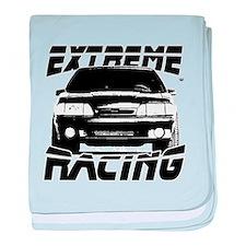 New Mustang Racing baby blanket