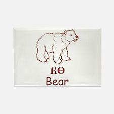 Baby Cherokee Bear Rectangle Magnet