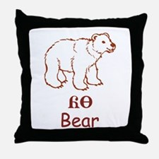 Baby Cherokee Bear Throw Pillow