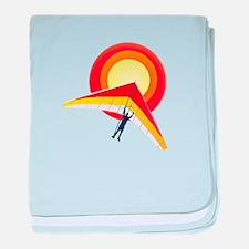 Hang Glider baby blanket