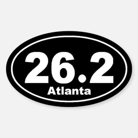 26.2 Atlanta Marathon black Sticker (Oval)