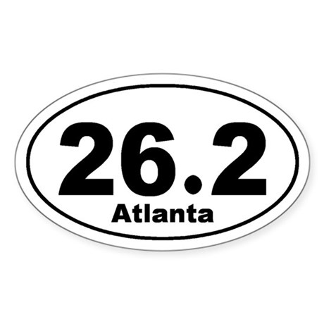 26.2 Atlanta marathon Sticker (Oval)