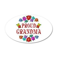 Proud Grandma 22x14 Oval Wall Peel