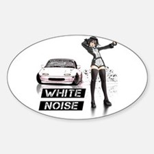 White MX5 Miata Drift anime Decal