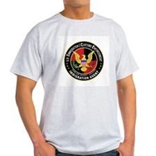 ICE in red Ash Grey T-Shirt