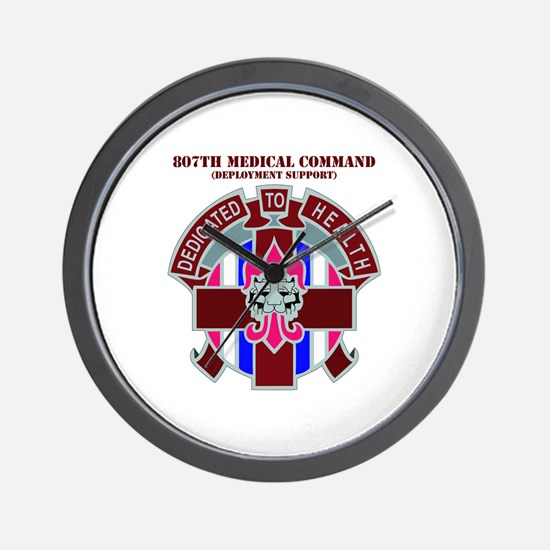 DUI-807TH MEDICAL COMMAND WITH TEXT Wall Clock