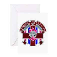 DUI-807TH MEDICAL COMMAND WITH TEXT Greeting Card