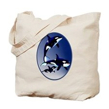 Killer Whale Family Tote Bag