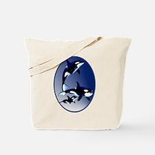 Killer Whale Family Tote Bag