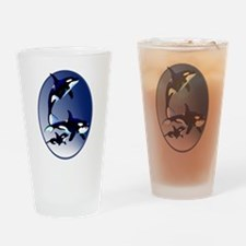 Killer Whale Family Drinking Glass