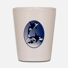 Killer Whale Family Shot Glass