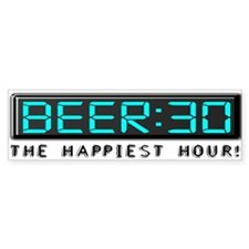 Beer30-10X3Bump Bumper Bumper Sticker