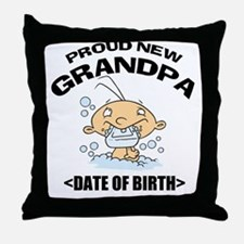 Proud New Grandpa Personalized Throw Pillow