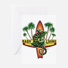 Easy Living Lizard Greeting Card