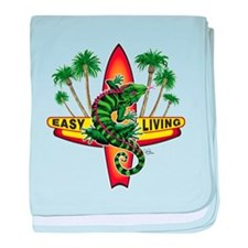 Easy Living Lizard baby blanket